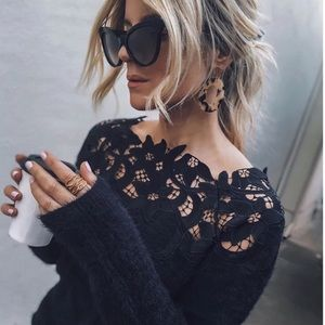 """THAT SWEATER"" Laced Detailed Sweater"